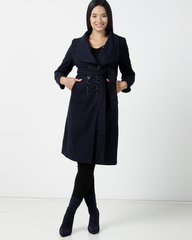 Utopia DB Melton Coat Navy