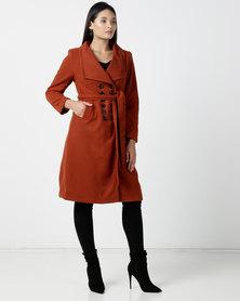 Utopia DB Melton Coat Rust