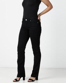 Contempo Core Basic Denim Jeans Black