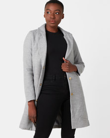 Utopia Classic Melton Coat Light Grey
