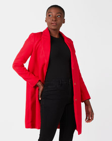 Utopia Classic Melton Coat Red
