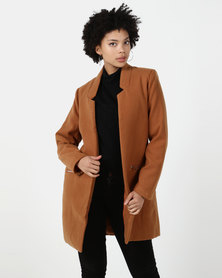 Utopia Tobacco Notch Neck Coat