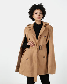 Utopia Belted Cape Jacket Camel