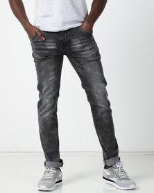 Soviet M Magnus #9 Stretch Slim Fit Denim Jeans Authentic Grey