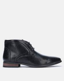 Franco Ceccato Baldini Formal Lace Up Boots Black