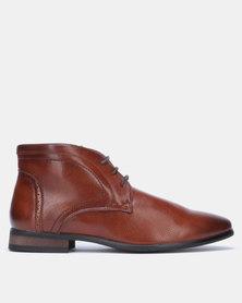 Franco Ceccato Baldini Formal Lace Up Boots Tan