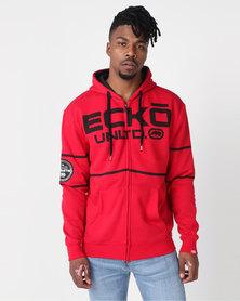 ECKÓ Unltd Stripe Hoodie Red