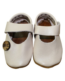 Razberry Kids Pale Pink Leather Baby Girls Shoes