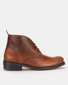 Bronx Men Commando Belter Lace Up Boots Oatmeal