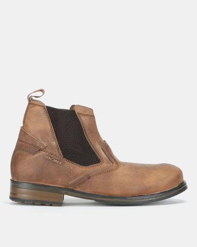 Bronx Men Cabretta Packard Gusset Boots Fossil