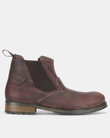 Bronx Men Cabretta Packard Gusset Boots Choc