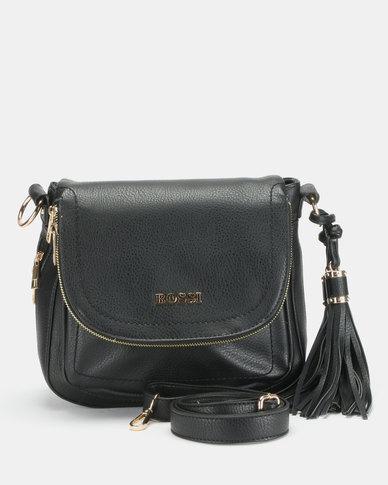 Bossi Pebble Crossbody Bag Black