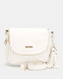 Bossi Pebble Crossbody Bag Cream