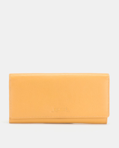 Bossi Nappa Ladies Leather Organiser Wallet Mustard
