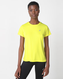 ASICS Silver Short Sleeve Top Yellow