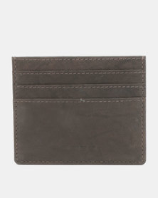Bossi Antique Leather Card Holder Brown
