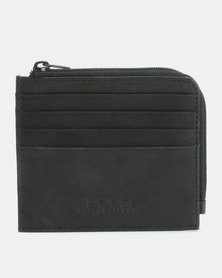 Bossi Business Leather Card Holder Black