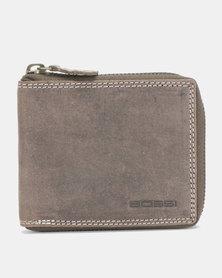 Bossi Hunter Mens Sip Around Leather Wallet Brown