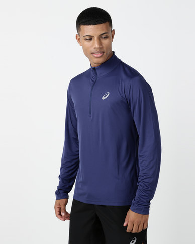 bfbb347be7e ASICS Silver LS 1/2 Zip Top Blue | Zando