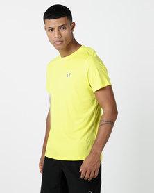 ASICS Silver Short Sleeve Top Yellow