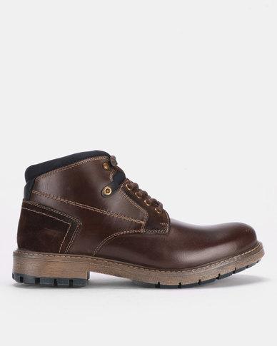 1e898d0fb70 Bronx Men Hamlin Lace Up Boots Chocolate Brown