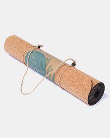 Earth Warrior Coral & Natural Rubber Yoga Mat Cork