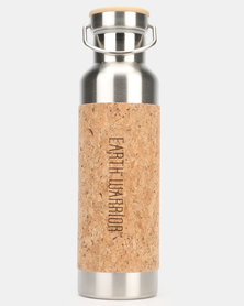 Earth Warrior Warrior Bottle Purple Text/Silver