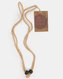 Earth Warrior Jute Yoga Strap Nude