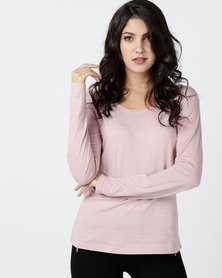Utopia Long Sleeve Basic T-shirt Pink