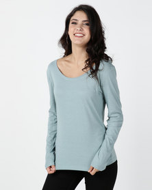 Utopia Long Sleeve Basic T-shirt Skye Blue