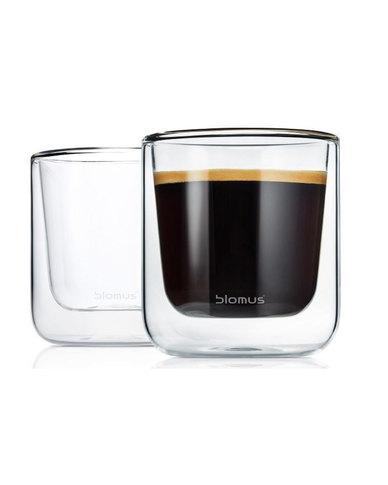 blomus Nero Insulated Coffee & Tea 200 ml Glasses Set of 2