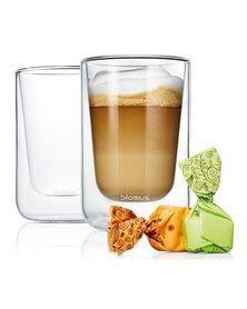 blomus Nero Insulated Cappuccino & Tea 250 ml Glasses Set of 2