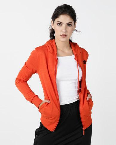 adidas Originals Zip Hoodie Orange