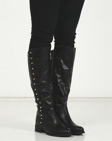 LaMara Long Studded Boots Black