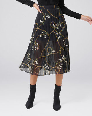 2d871661b7 Forever New Georgie Pleated Skirt Winter Chain