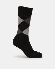 Falke Argyle Socks Black