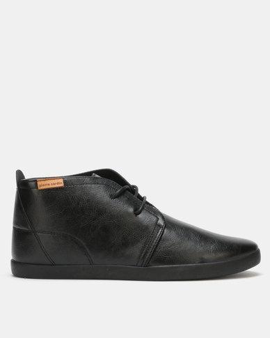 Pierre Cardin Plimsoll Lace Up Bootie Black