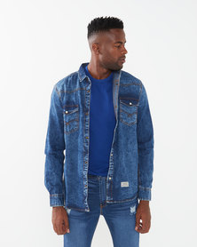 Utopia Denim Shirt Blue Stonewash