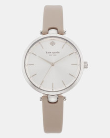 KATE SPADE Holland Leather Watch Grey