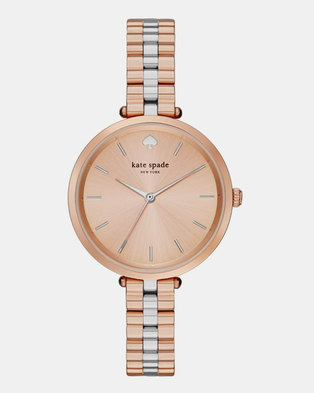 KATE SPADE Holland Silver Dial Ladies Watch Rose Gold