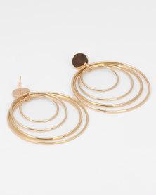 Black Lemon Multi Drop Earrings Gold