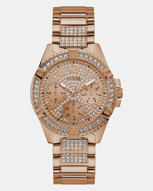 Guess Womens Watch Lady Frontier Bracelet Rose-Gold