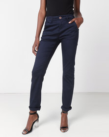 Jeep Stretch Twill Straight Leg Chino Navy