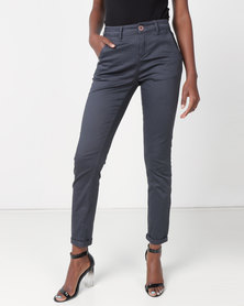 Jeep Stretch Twill Straight Leg Chino Charcoal