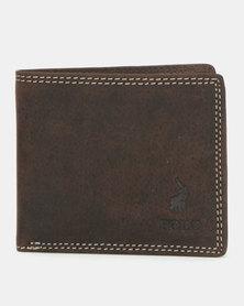 Polo Sahara Billfold Section Wallet Brown