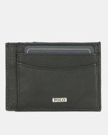 Polo Nappa Credit Card Wallet Black