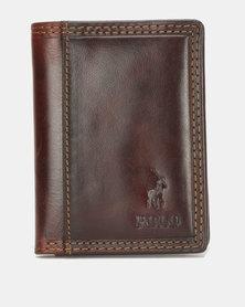 Polo Kenya Credit Card Wallet Brown