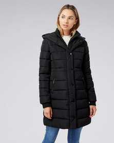 Forever New Polly Puffa Jacket Black