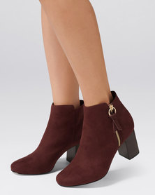 Forever New Brooke Circle Detail Boot Berry