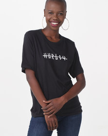 Hurley Gold Oversized Perfect Tee Black